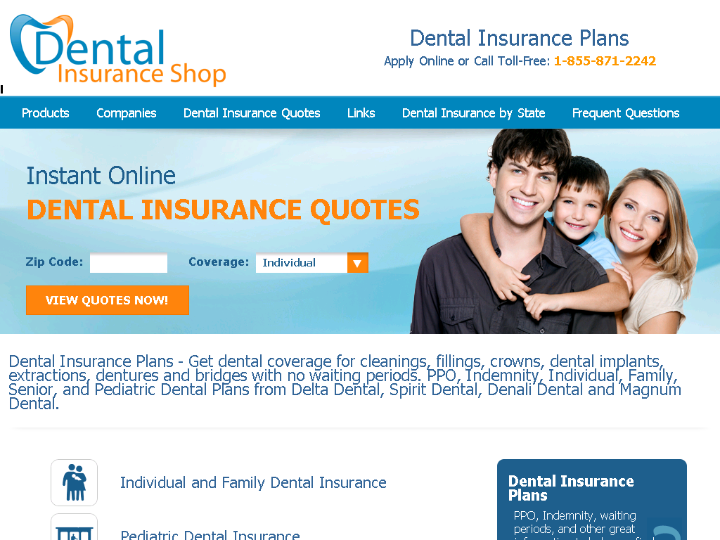 Dental Insurance Plans And Coverage Web Directory