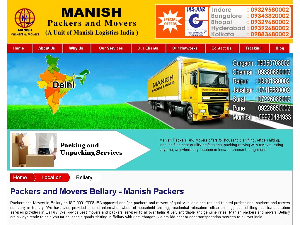 Packers and Movers Bellary - Web Directory