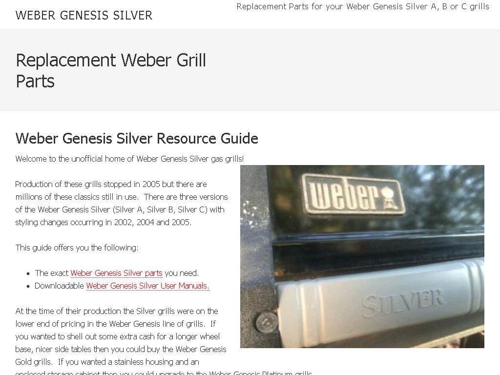Weber Genesis Silver Web Directory