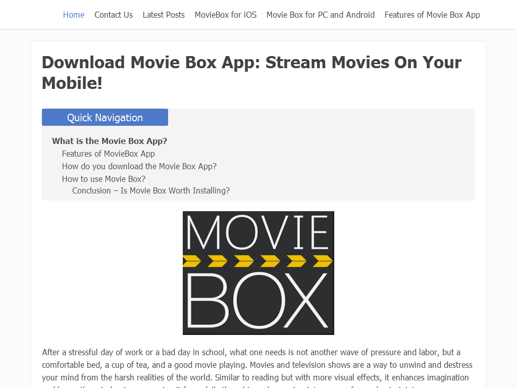 Download Movie Box App - Web Directory
