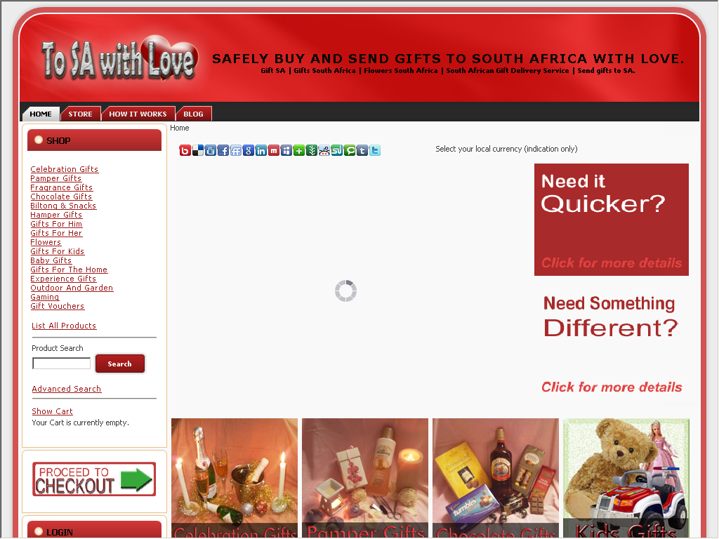 Safely send gifts to South Africa with