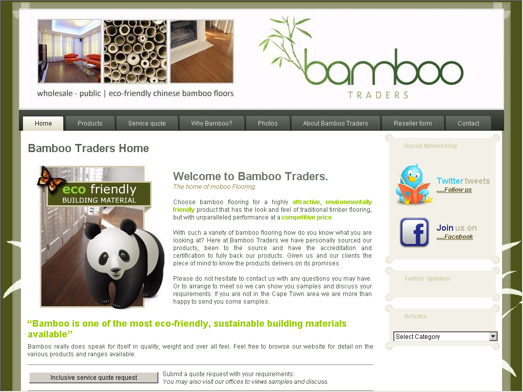Bamboo Traders Quality Flooring Web