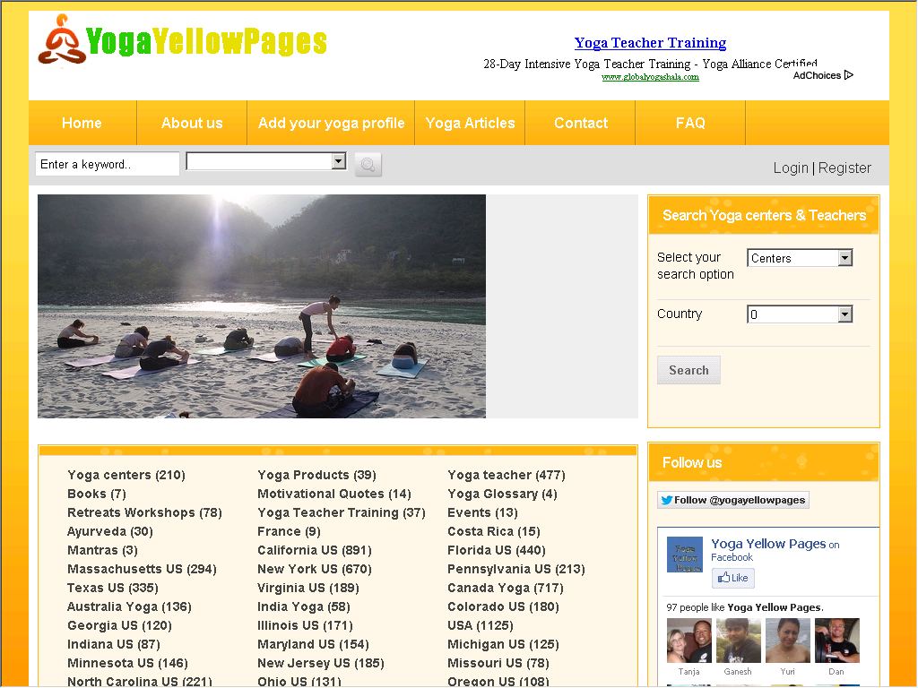 Yoga Yellow pages - Yoga teacher,Yoga center - Web Directory