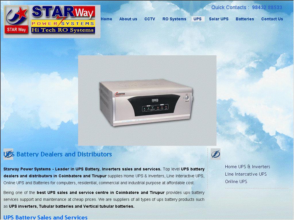 UPS Sales in Tirupur - Web Directory