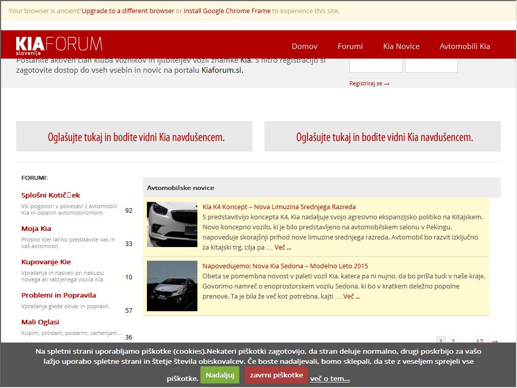 Kia Forum Slovenija Web Directory